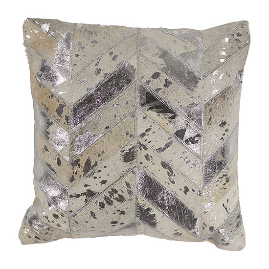 Kas Hide Square Throw Pillow