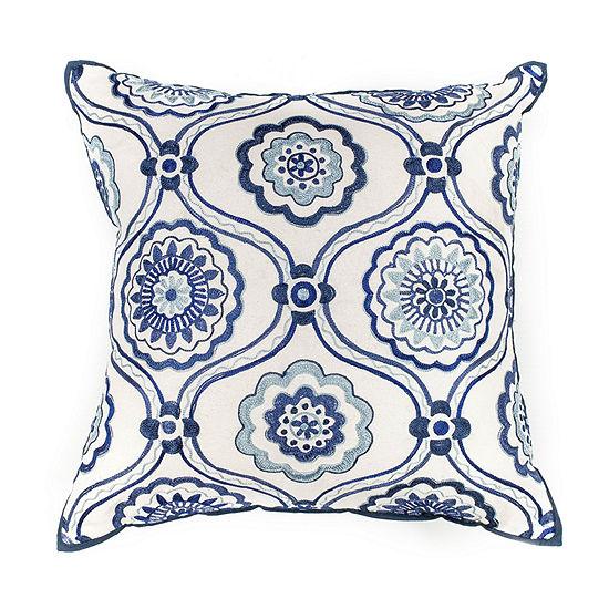 Kas Mosaic Square Throw Pillow