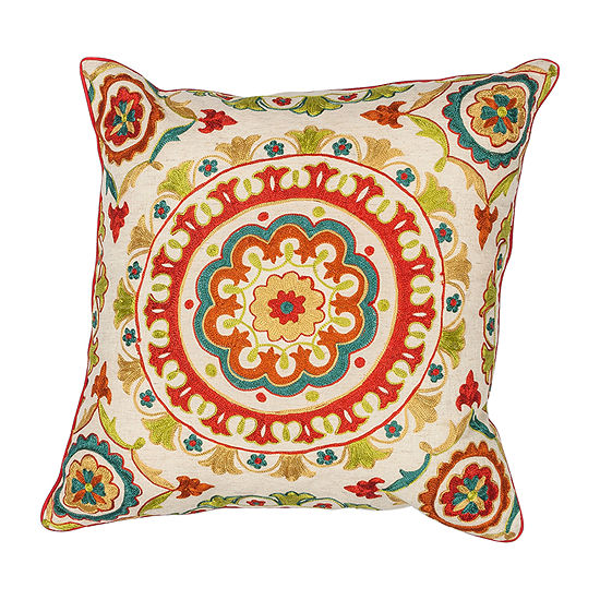 Kas Suzani Square Throw Pillow