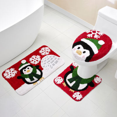 Just My Size Holiday Penguin 3-pc. Bath Rug Set