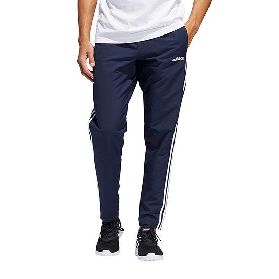 adidas E3 Stripe Woven Open Hem Mens Athletic Fit Track Pant