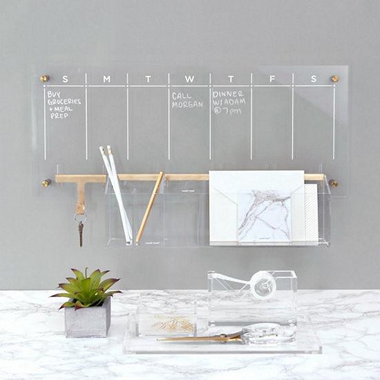 Russell + Hazel Acrylic Weekly Wall Calendar Bundle 4pc Desk Set