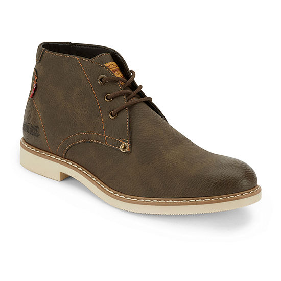 Levi's Mens Monroe Lace Up Flat Heel Boots