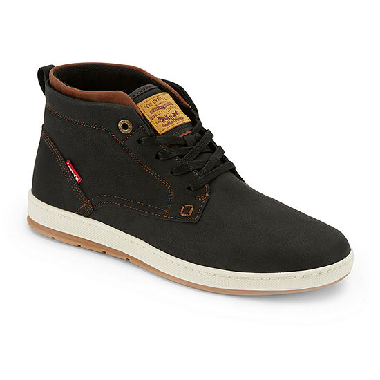 Levi's Mens Goshen Lace Up Flat Heel Boots