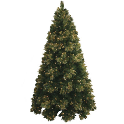 4.5' Pre-Lit Glitter-Tipped Golden Pine Christmas Tree