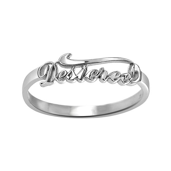 Womens Sterling Silver Cocktail Ring