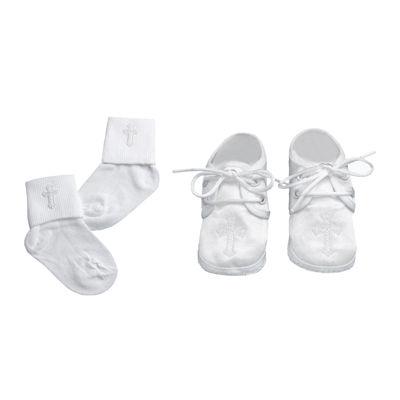 Keepsake® Christening Socks and Shoes Set - Boys