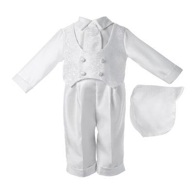 Keepsake® 3-pc. Christening Hat, Shirt and Pants Set - Boys newborn-12m