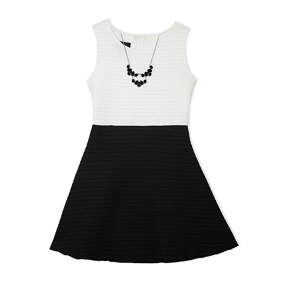 by&by Girl Sleeveless Fit-and-Flare Dress - Girls 7-16