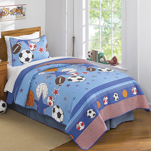 Laura Hart Kids Sports and Stars Quilt Set