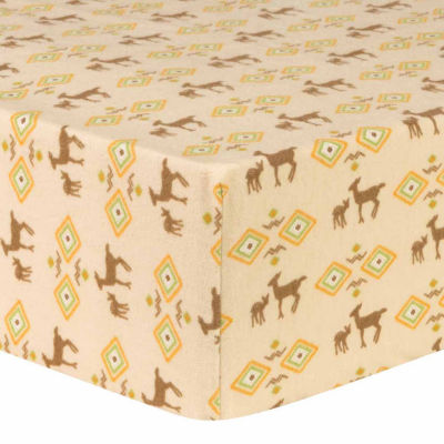 Trend Lab Deer Aztec Flannel  Crib Sheet