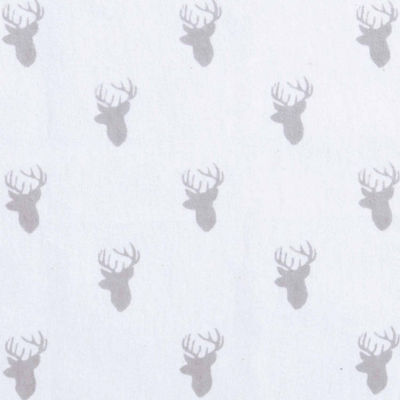 Trend Lab Grey Stag Silhouette Flannel  Crib Sheet