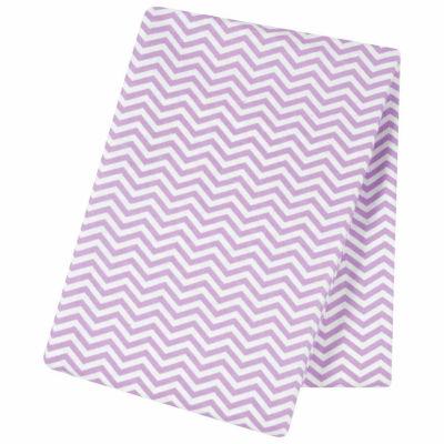 Trend Lab  Lilac Chevron Flannel Swaddle Blanket