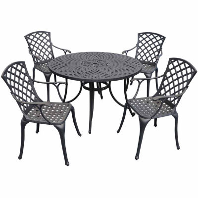 "Sedona Cast Aluminum 46"" 5-pc. Patio Dining Set"