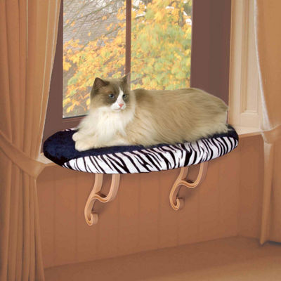 "K & H Manufacturing Kitty Sill - Zebra - 14"" x 24"" x 9"""