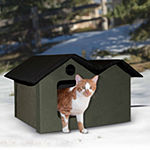 "K & H Manufacturing Outdoor Kitty House Extra-Wide heated, 26.5"" x 15.5"" x 21.5"""