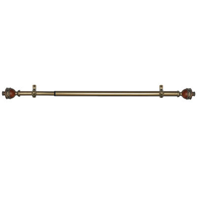 "Camino ¾"" Adjustable Curtain Rod with Ava Finial"