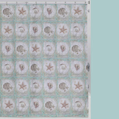 SEA TREASURES SHOWER CURTAIN