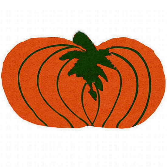 "Pumpkin Shape Doormat - 18""X30"""
