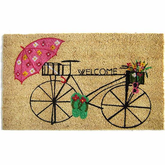 """Bicycle Welcome Doormat - 18""""X30"""""""