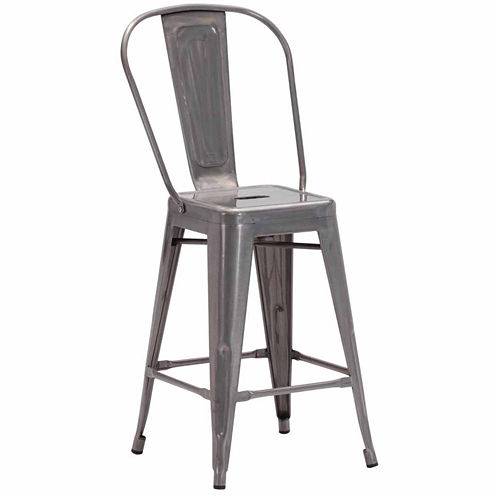 Zuo Modern Elio 2-pc. Counter Height Bar Stool