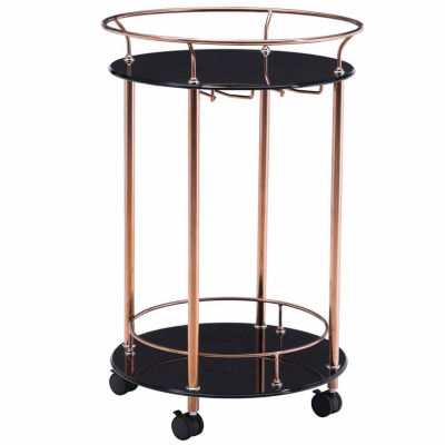 Glass-Top Serving Cart