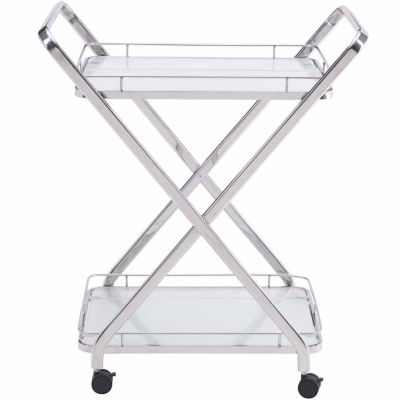 Zuo Modern Glass-Top Serving Cart