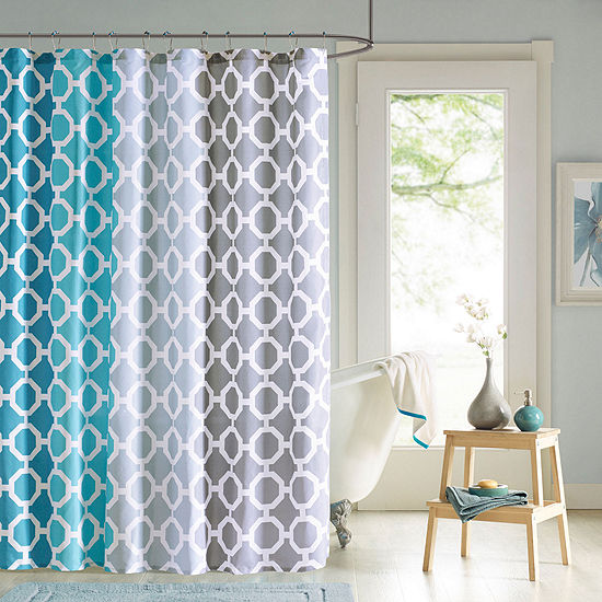90 By Design Lab Dani Shower Curtain And Hook Set