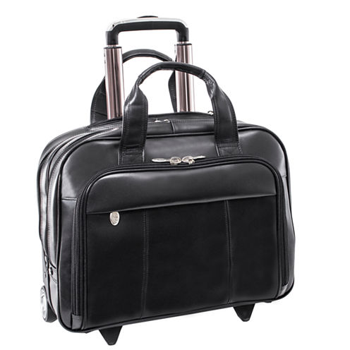 "McKleinUSA Soho 15.6"" Leather Wheeled Laptop Briefcase"