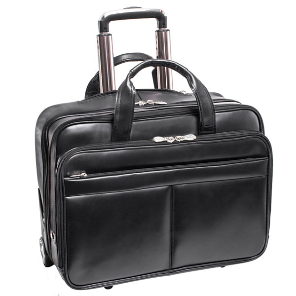 "McKleinUSA Bowery 15.6"" Leather Wheeled Laptop Briefcase"