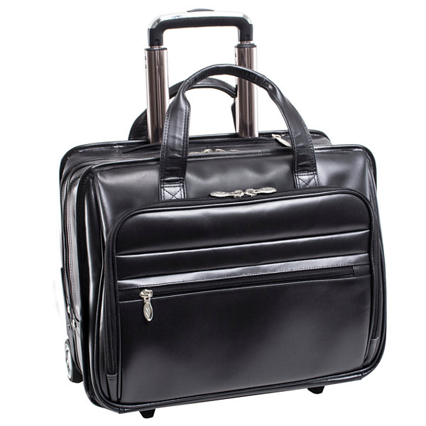 "McKleinUSA Midtown 15.6"" Leather Wheeled Laptop Briefcase"