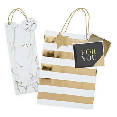 Mixit Black and White Gift Bag Set
