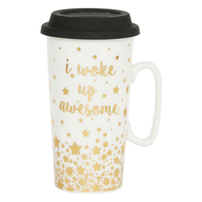 Mixit Black And White Travel Mug