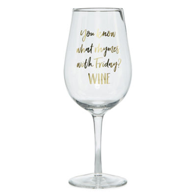 Mixit Black and White XL Wine Glass