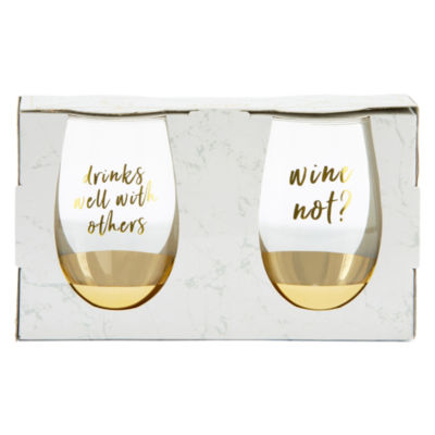 Mixit 2-pc Stemless Wine Glass Set