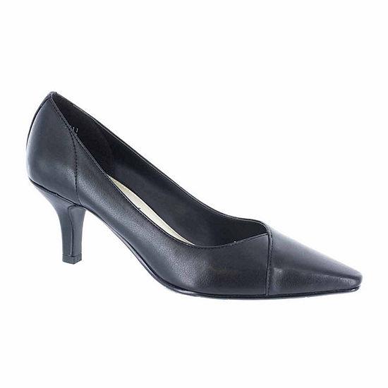 Easy Street Womens Chiffon Pumps Spike Heel