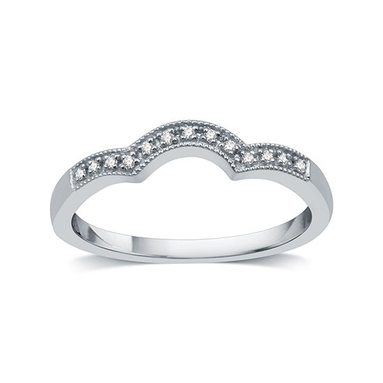 I Said Yes I Said Yes 2MM Diamond Accent Genuine White Diamond Platinaire Wedding Band
