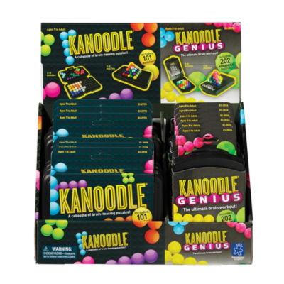 Educational Insights Kanoodle® & Kanoodle® Genius Mixed Counter Display of 12  (6 of each game)