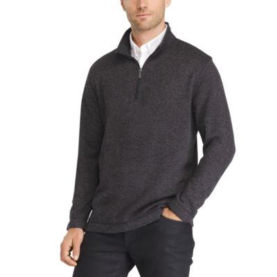 Van Heusen Sweater Fleece Qtr Zip Long Sleeve Pullover Sweater