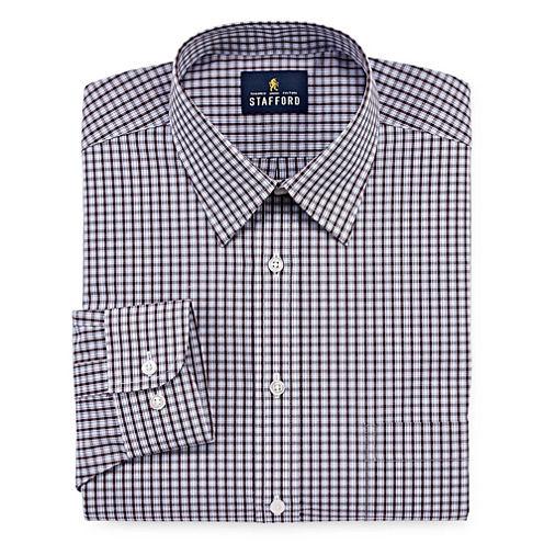 Stafford Travel Performance Super Long Sleeve Broadcloth Gingham Dress Shirt