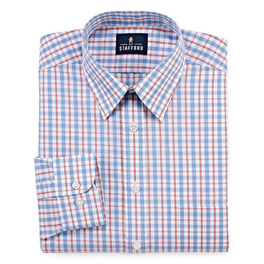 Stafford travel performance super shirt long sleeve for Where to buy stafford dress shirts
