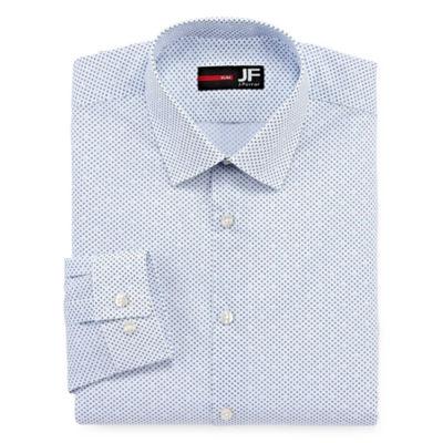 JF J.Ferrar Stretch Mens Spread Collar Long Sleeve Stretch Dress Shirt