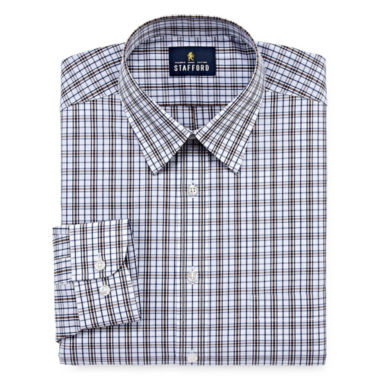 Stafford Travel Performance Super - Big and Tall Long- Sleeve Dress Shirt