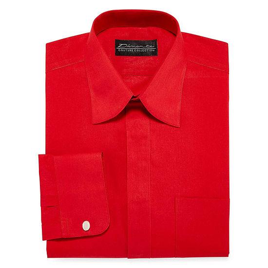 Damante Modern Mens Spread Collar Long Sleeve Dress Shirt