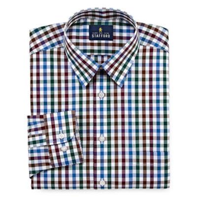 Stafford Travel Performance Super - Big and Tall Long- Sleeve Dress Shirt