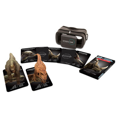 ReTrak 4D+ Dinosaur Experience Augmented Reality Cards & Virtual Reality Headset