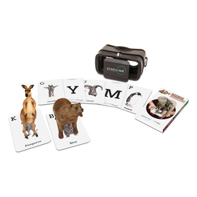 ReTrak 4D+ Animal Zoo Augmented Reality Cards & Virtual Reality Headset