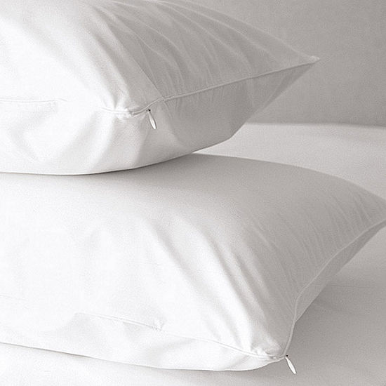 Premium Anti-Allergen Hypoallergenic 500 Thread Count Zippered Pillow Protector 2-Pack