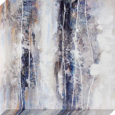 Decor Therapy Textural Abstract Oil Painted Canvas