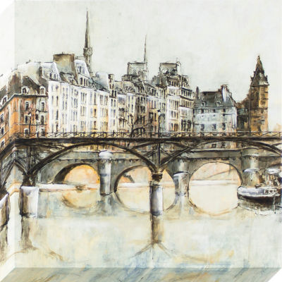 Decor Therapy European Bridges Stretched Canvas